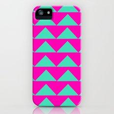 Neon Pink & Aqua Slim Case iPhone (5, 5s)
