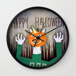 Happy Halloween Unicorn Wall Clock