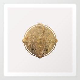 Gold Squircle Art Print