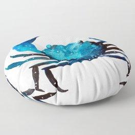 Cerulean blue Crustacean Floor Pillow