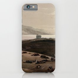 Vintage Print - The Holy Land, Vol 2 (1843) - Encampment at the site of ancient Jericho iPhone Case