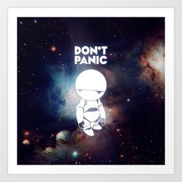 Don't Panic Marvin Art Print