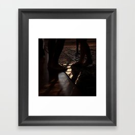 Feet in Shadow Framed Art Print