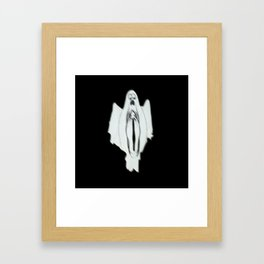 HAUNTED PUSSY Framed Art Print