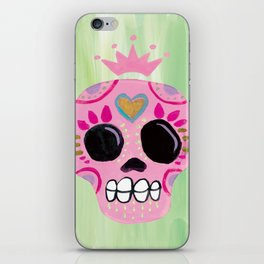 Queen Sugar Skull_Pink iPhone Skin