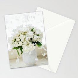 Rosas blancas Stationery Cards