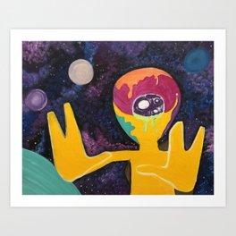 Alien Takeover Art Print