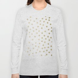 Stylish Gold Polka Dots Long Sleeve T-shirt