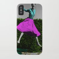 audrey iPhone & iPod Cases featuring Audrey by POP Prints by FMcLaws