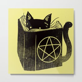 Witchcraft Cat Metal Print