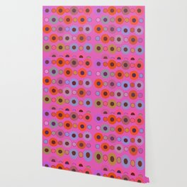 Abstract circle color print Wallpaper