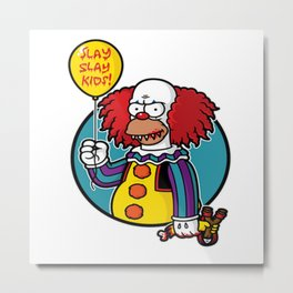 Krustywise the Clown Metal Print