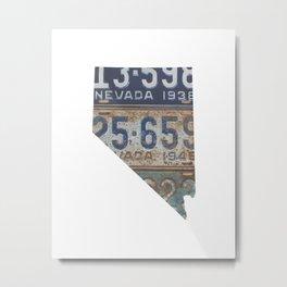 Vintage Nevada Metal Print