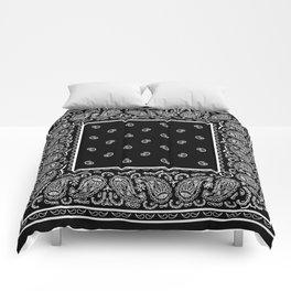 Classic Black Bandana Comforters