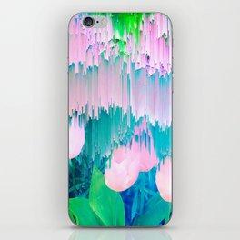 No Rain, No Flowers - tulip Glitch #homedecor #buyart iPhone Skin