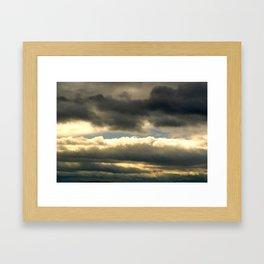 a break in the clouds Framed Art Print