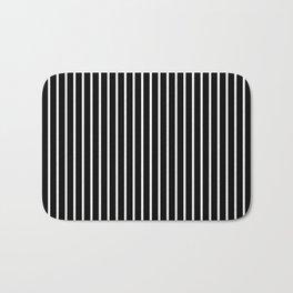 Classic White Pinstripe on White Bath Mat