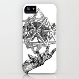 The intersection of worlds iPhone Case