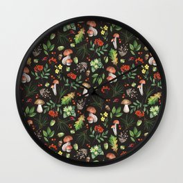 Forest. Brown pattern Wall Clock