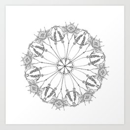 Flower Lace Art Print