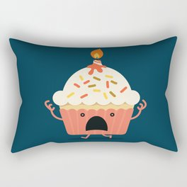 Cupcake on fire Rectangular Pillow