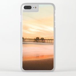 October Sunset Clear iPhone Case