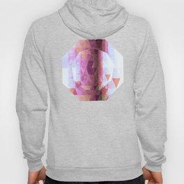 Lavender Purple Abstract Geometric Triangle Polyglen Wallart Illustration Hoody