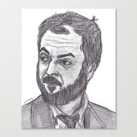 stanley kubrick Canvas Prints featuring Stanley Kubrick by jamestomgray