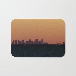 Boston skyline Silhouette at sunset from Gloucester Bath Mat