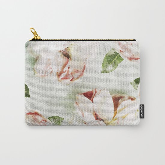 Roses & Foliage Watercolor Carry-All Pouch