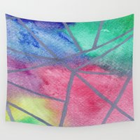 tie dye Wall Tapestries featuring Tie dye by Bridget Davidson