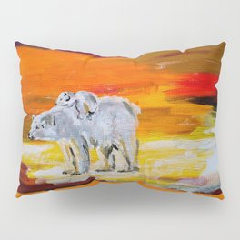 Polar Bears Surviving Pillow Sham