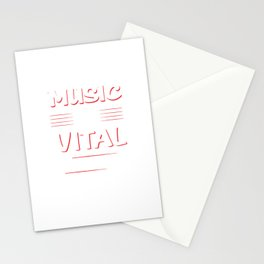 Music is Vital to My Existence Musician's T-Shirt Stationery Cards