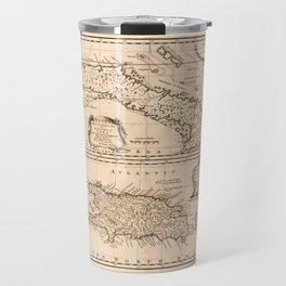 Map of Cuba & Puerto Rico (1747) Travel Mug