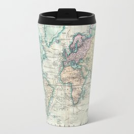 World map travel mugs society6 vintage map of the world 1801 travel mug sciox Image collections