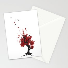 Murder in a Tree; crows Stationery Cards