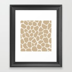 Giraffe Animal: Camel Cream Framed Art Print