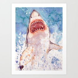 Shark Jaws Art Print