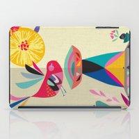 bath iPad Cases featuring Bird Bath by Rachel Lee