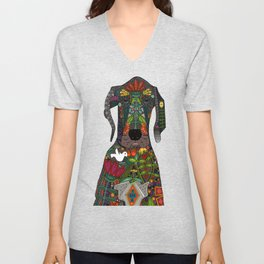 Great Dane love beige Unisex V-Neck