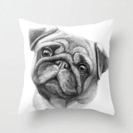 The Pug G123 Throw Pillow