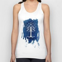 gondor Tank Tops featuring The White Tree by Jackie Sullivan