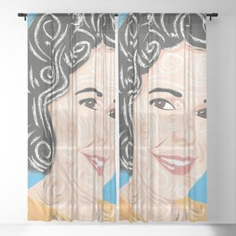 Aunt smiling / Sheer Curtain