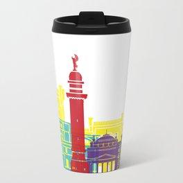 Trieste skyline pop Metal Travel Mug