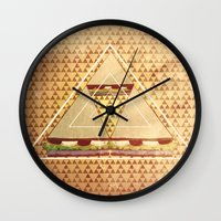 triforce Wall Clocks featuring Triforce by matteolasi