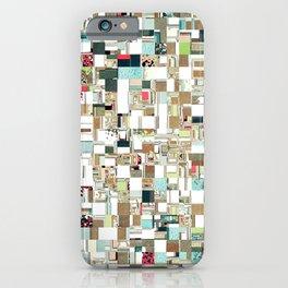 Geometric Textured Jumble iPhone Case