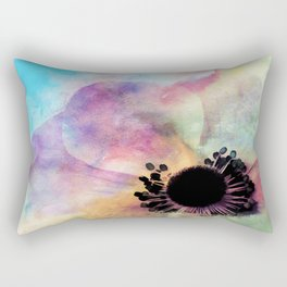 Abstract anemone one colorful watercolor Rectangular Pillow