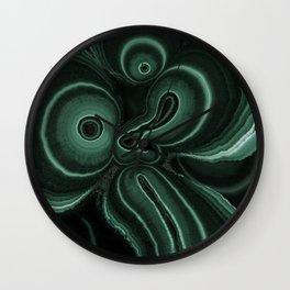 Patterns of malachite gem Wall Clock