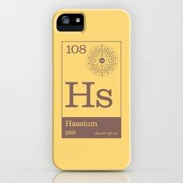 Periodic Elements - 108 Hassium (Hs) iPhone Case
