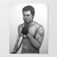 dexter Canvas Prints featuring Dexter by Jack Kershaw